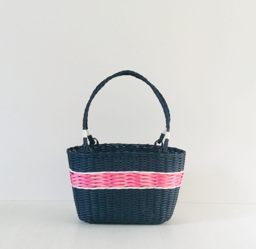 クラフトバンド上級よろい編みのバッグ
