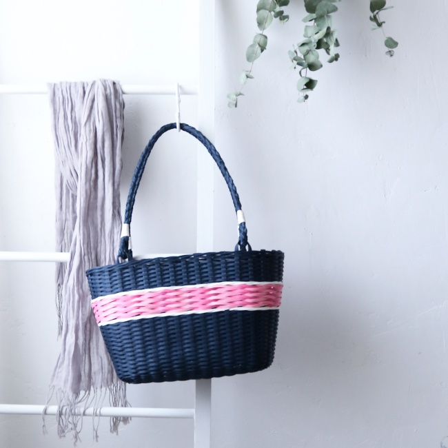 クラフトバンドよろい編みバッグ