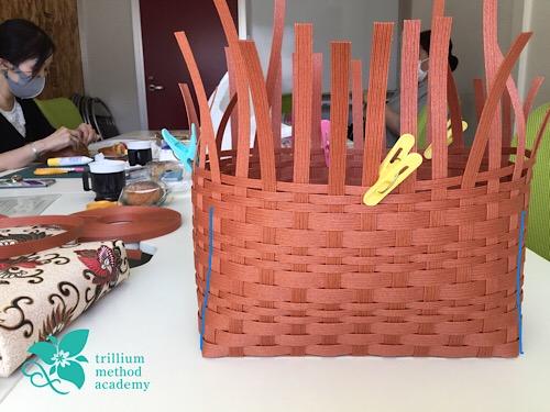 クラフトバンドバッグ 編み方のコツ