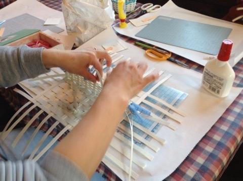 クラフトバンド 引き返し編みの編み方