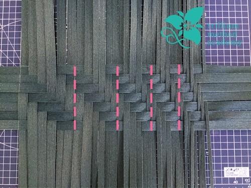 クラフトバンド波網代編みバッグ