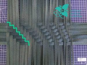 クラフトバンド網代編みバッグ