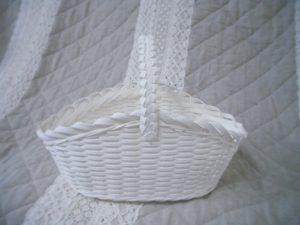 クラフトバンド うろこ編みのバスケット