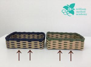 クラフトバンド四角いかごの編み方