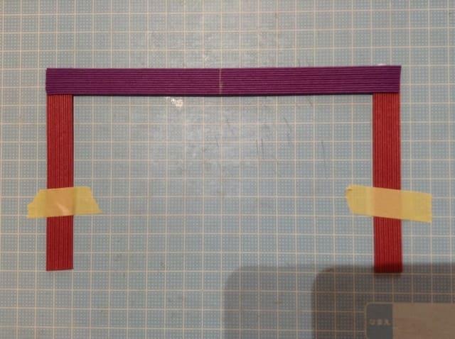 クラフトバンド底の編み方