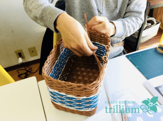クラフトバンド かけ編みの編み方