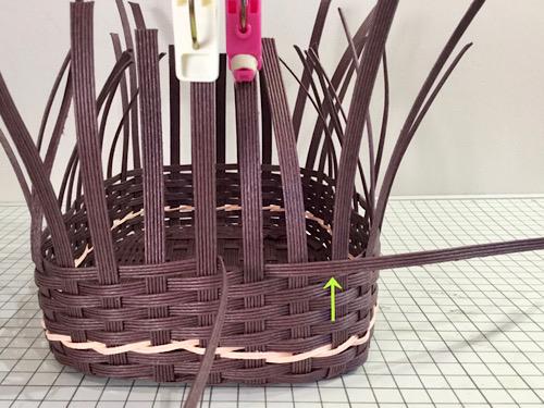 エコクラフトバンドかごの編み方