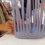 クラフトバンド とばし編みバッグ
